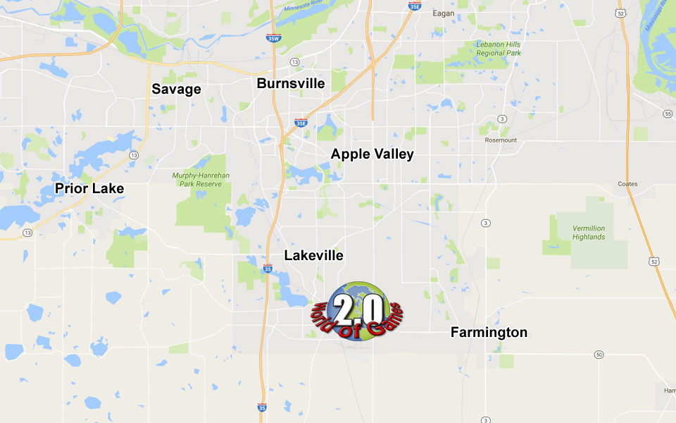 Located in Lakeville Minnesota, World of Games is a Local Game Store that offers Vintage Video Games, Trading Cards, Board Games, and Comic Books to the Northern and Southern Twin Cities Metro areas.